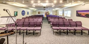 Sanctuary, seating and concert space at UATL facility